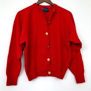 Vintage Burberry Ballantyne Wool Cardigan (M/L)